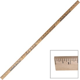 "Thick Clear Lacquered Yardstick (0.25"")"