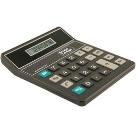 Imprinted Tilt Display Desktop Calculator
