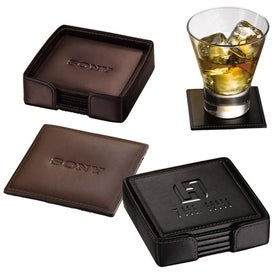 "Times Square Coaster Set-Square (3.75"" x 3.75"" x 3.75"")"