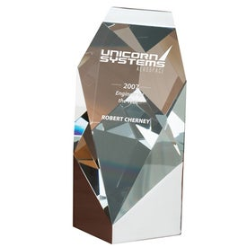 Tonne I Diagonal Cut Crystal Award