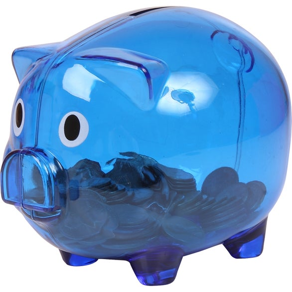 Translucent Blue Translucent Piggy Bank
