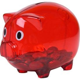 Translucent Piggy Bank for Customization