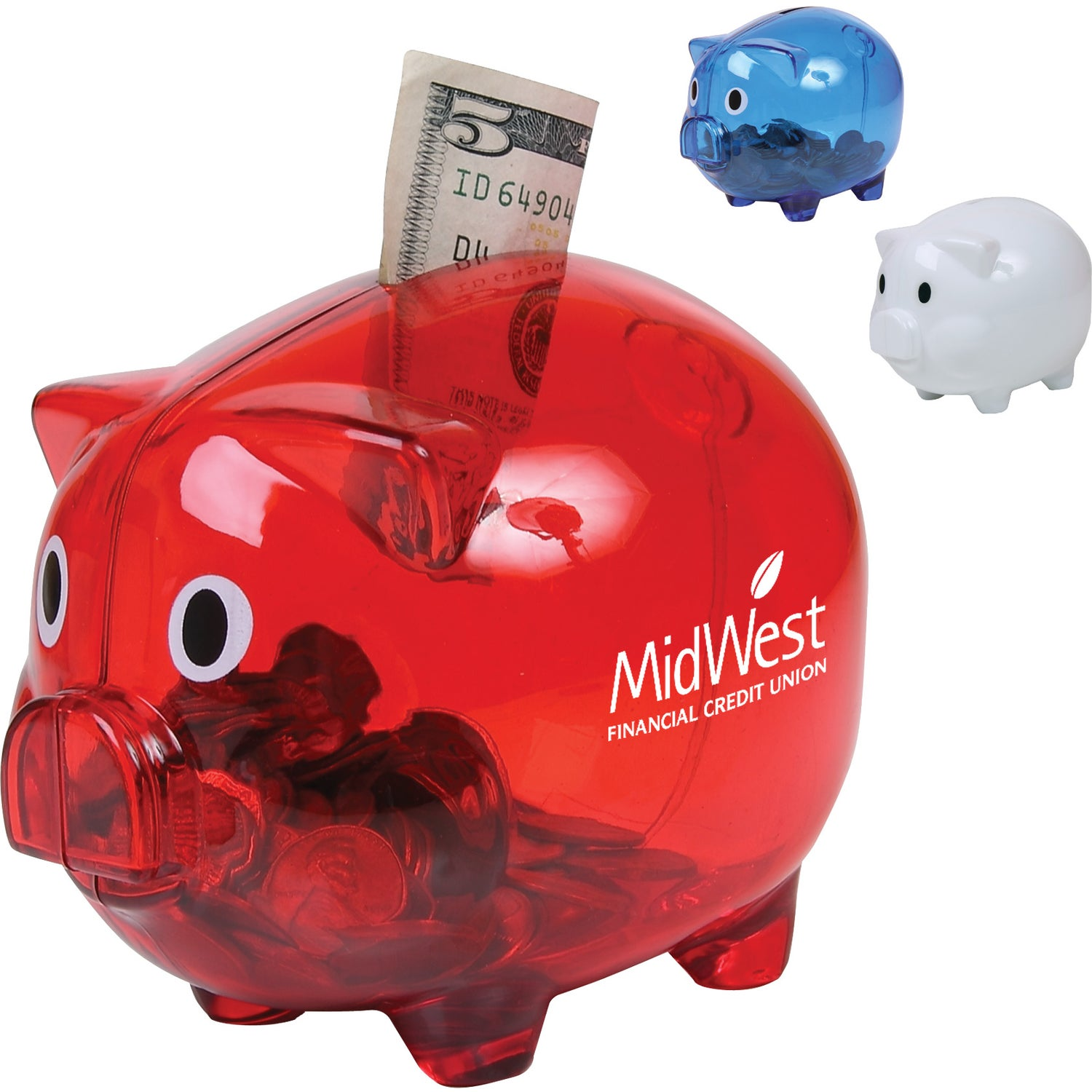Click Here To Order Translucent Piggy Banks Printed With