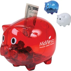 Advertising Translucent Piggy Bank