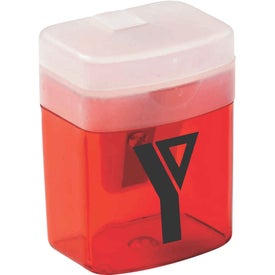 Translucent Pencil Sharpener Branded with Your Logo