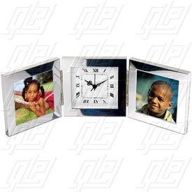 Tri-Fold Picture Frame/Clock