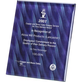 Trillinnium Award Plaque with Your Slogan