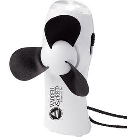 Turbo Mini Fan/Flashlight for Marketing