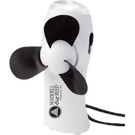 Turbo Mini Fan/Flashlight for Promotion