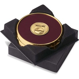 Two Coasters in Deluxe Black Flocked Gift Box for your School