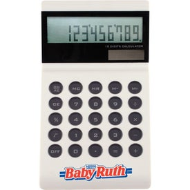 Ultra Slim 12 Digit Table Calculator with Your Slogan