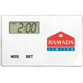 Branded Ultra Thin Refrigerator Magnet Clock