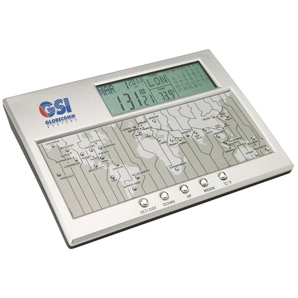 Vaghi Digital World Time Clock Calendar and Thermometer