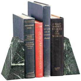 Advertising Verde Marble Bookend