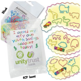 Wacky Bands Shaped Rubber Bands with Your Slogan
