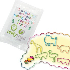 Printed Wacky Bands Shaped Rubber Bands