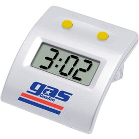 Logo Water Powered LCD Clock