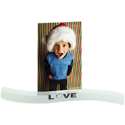 Frosted White Wavy Photo Holder