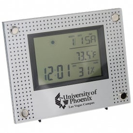 Weather Station Clock Branded with Your Logo