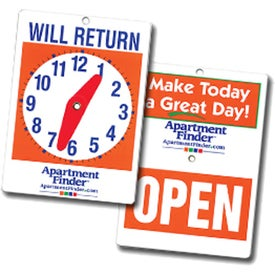 Will Return Clock Sign for Doors