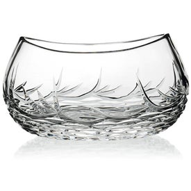 Whisper-Cut Oval Bowl Award with Your Slogan
