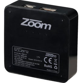 Zoom Energy Square Printed with Your Logo