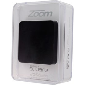 Imprinted Zoom Energy Square