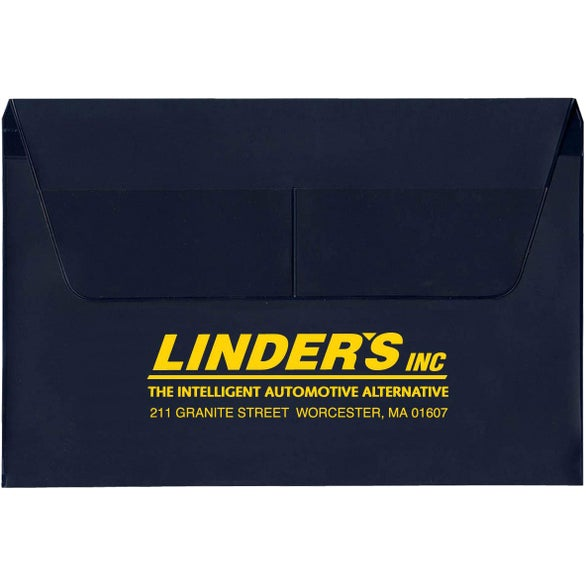 Navy Blue Gusseted Document Case