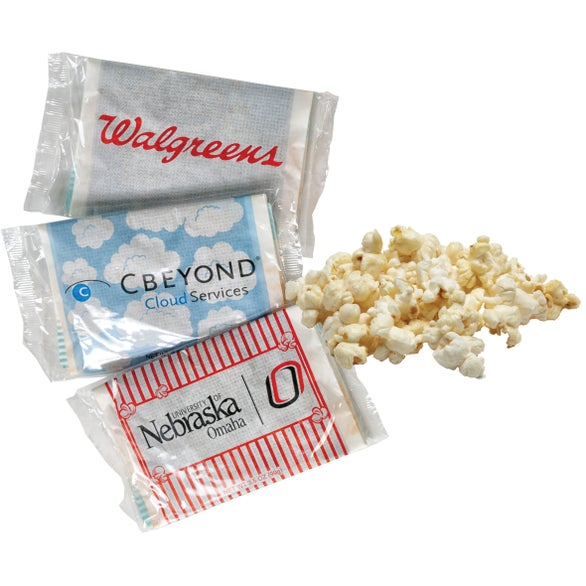 White Custom Printed Single Microwave Popcorn Bag