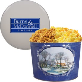 2 Gallon Butter and Cheese Popcorn Tin