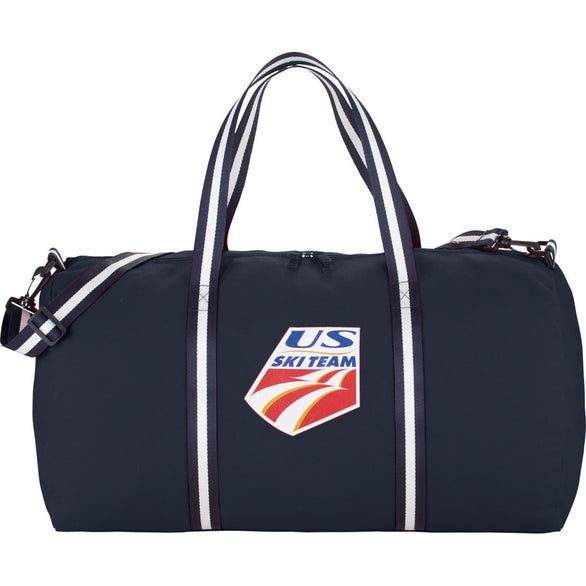 Navy Cotton Weekender Duffel Bag