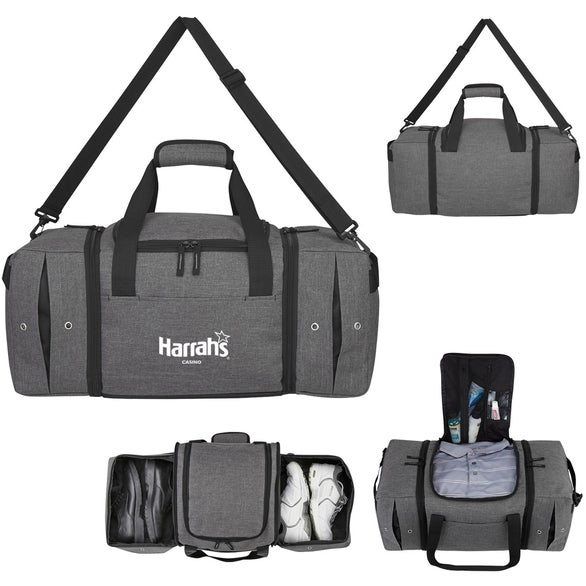 Gray / Black Deluxe Sneaker Duffel Bag