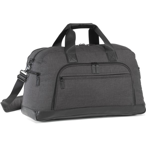 Charcoal Heather / Black Heritage Supply Tanner Travel Duffel Bag
