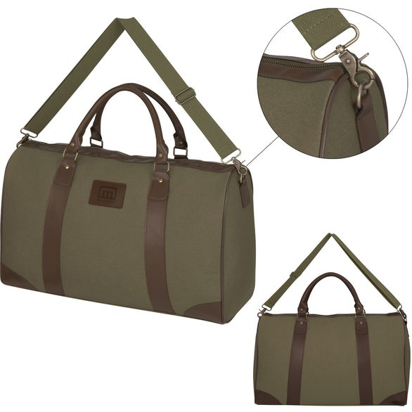 8c129b818bc3 Cutter and Buck Leather Weekender Duffel