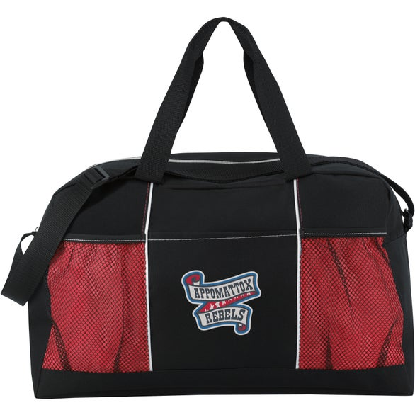 Black / Red Stay Fit Duffel Bag