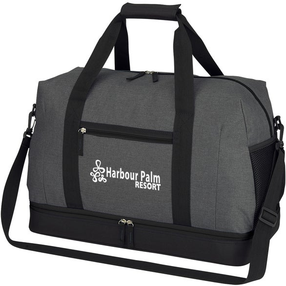 Gray / Black Tribeca Duffel Bag