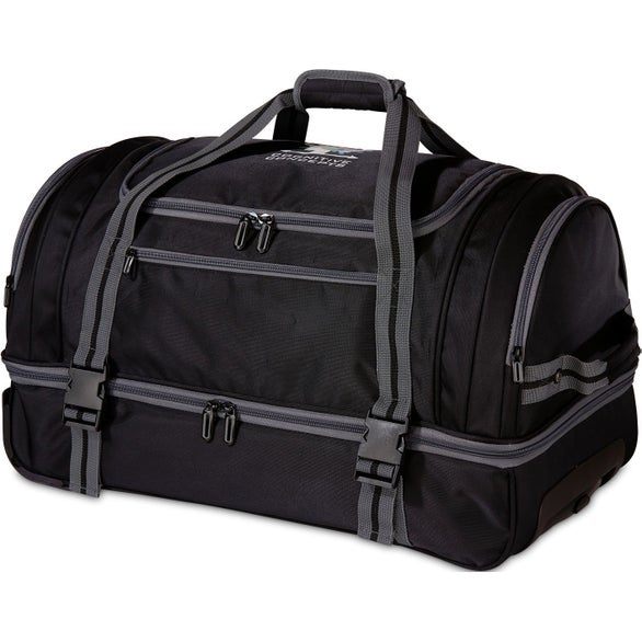 Black / Gray Ultimate Rolling Duffel Bag