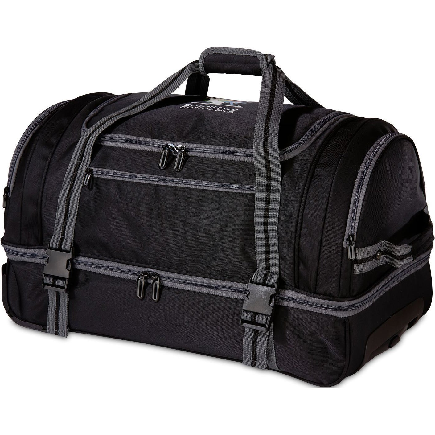 Black Gray Ultimate Rolling Duffel Bag Giveaways