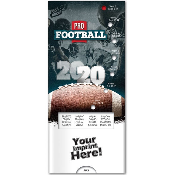 See Item Pro Football Season Schedule Pocket Slider