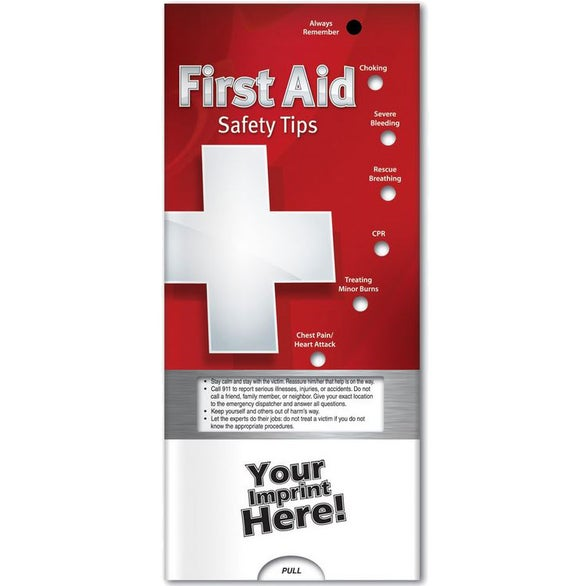 See Item First Aid: Safety Tips Pocket Slider