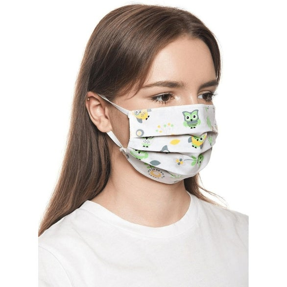 Full Color Imprint 2 Layer Cotton Face Mask with Adjuster