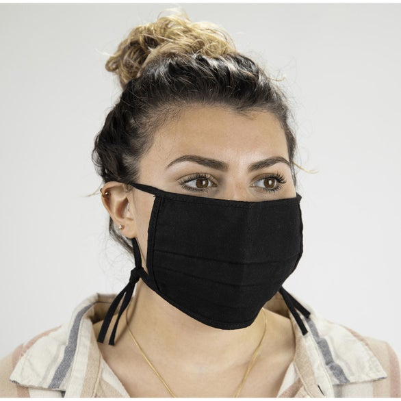 Black 2-Ply Cotton Mask