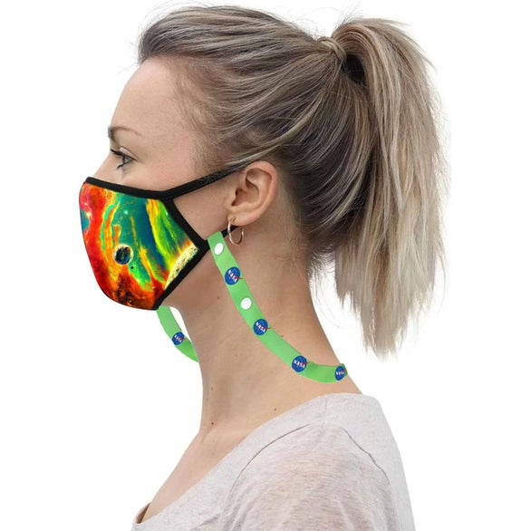 White 3 Layer Safety Face Mask Lanyard Combo