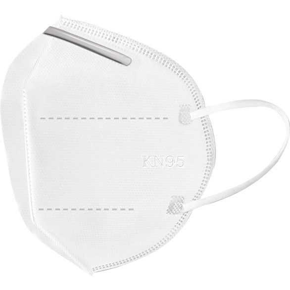 White 4 Layer Filtering KN95 Face Mask