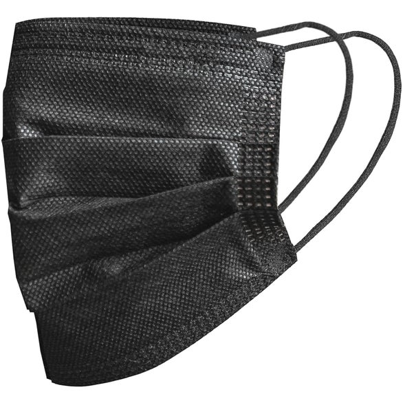 Black Black 3-Ply Disposable Face Mask