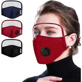 Cotton Face Masks with Eye Shield and Valve