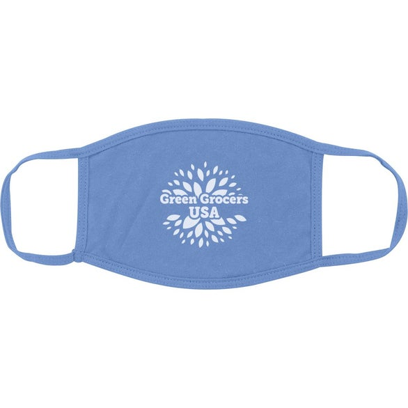 Light Blue Cotton Reusable Mask