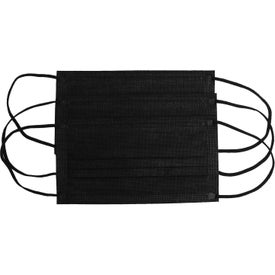 "Disposable Face Masks (6.9"" x 3.75"", Black)"