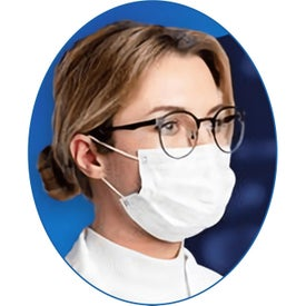 "Disposable Face Masks (6.9"" x 3.75"", White)"