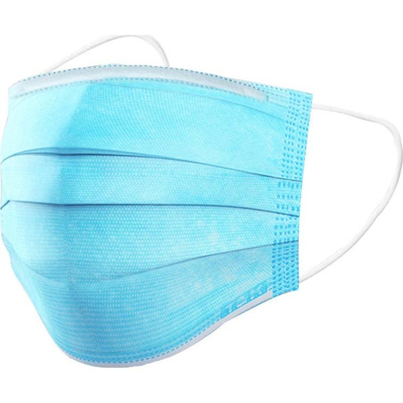 Blue Disposable Personal Protective Face Mask